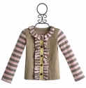 Mustard Pie Sage Brown Dot Girls Stella Cardi
