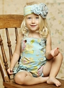 Mustard Pie Savannah Sunsuit for Girls in Blue