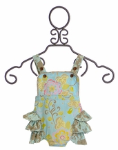 Mustard Pie Savannah Sunsuit for Girls in Blue (Newborn & 3 Mos)