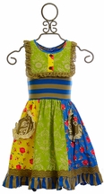 Mustard Pie Scrappy Ramona Girls Dress (Size 18Mos)