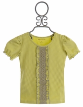 Mustard Pie Serafina Sweet Pea Top for Girls (12Mos,18Mos,24Mos)