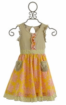 Mustard Pie Sunny Grey Cozette Dress (18Mos & 6X)