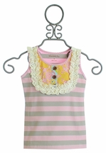 Mustard Pie Sunny Sweet Pink Harper Tank for Girls (12Mos & 18Mos)