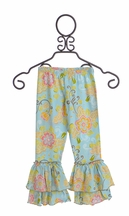 Mustard Pie Tango Leggings for Girls in Spa Blue (Size 12Mos)