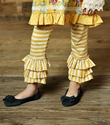 Mustard Pie Tango Leggings in Mustard Vanilla Stripes
