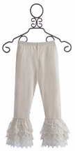 Mustard Pie Willa Legging in Ivory (12Mos,24Mos,4T,8,12)