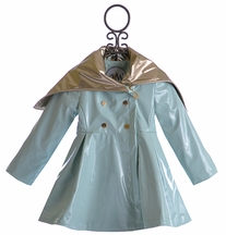 Oil and Water Fancy Rain Coat for Girl Hepburn Effect (Size 4/5)
