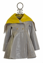 Oil and Water Houndstooth Raincoat for Girls (Size 2/3)