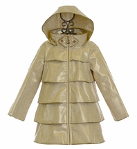 Oil and Water Raincoat in Gold (4/5 & 8)