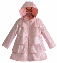 Oil and Water Ruffle Overcoat in Pink (Size 6/7)