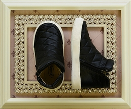 Old Soles Girls Sneakers Quilted in Black