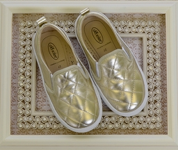 Old Soles Gold Quilted Slip-On Sneakers