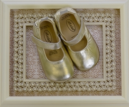 Old Soles Infant Ballet Flat in Metallic Gold