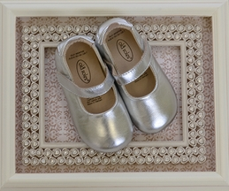 Old Soles Metallic Silver Ballet Shoes for Infants