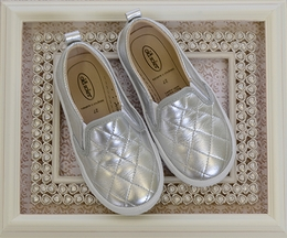 Old Soles Quilted Silver Sneakers