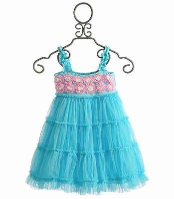 One Posh Kid Aqua Pixie Dress for Girls
