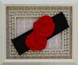 One Posh Kid Black and Red Girls Headband