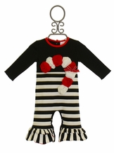 One Posh Kid Candy Cane Lane Infant Girls Longall
