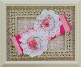 One Posh Kid Dainty Bloom Headband in Pink