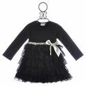 One Posh Kid Girls Holiday Party Dress Silver Bow