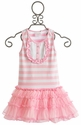 One Posh Kid Girls Pink Stripe Tutu Dress