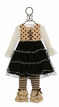 One Posh Kid Holiday in Paris Tutu Dress with Legging