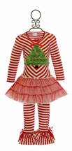 One Posh Kid Holiday Tree Dress Set