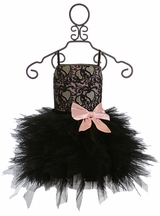 Ooh La La Couture Black Dress with Pink Bow Emma Wow