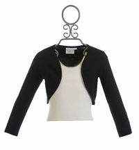 Ooh La La Couture Black Shrug for Girls (2T,3T,6X/7,14)