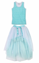Ooh La La Couture Blue Ice Skirt Set for Girls (2T & 14)