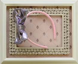 Ooh la la Couture Bow Headband in Silver