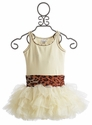 Ooh La La Couture Champagne Belted Sequins Dress