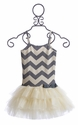 Ooh La La Couture Chevron Stripe Dress for Girls