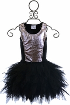 Ooh la la Couture Color Block Dress in Black and Silver