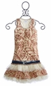 Ooh La La Couture Denim Skirt Set Champagne