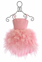 Ooh La La Couture Devin High Low Dress in Pink
