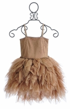 Ooh La La Couture Devin High Low Dress in Rose Gold (4T & 5)