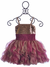 Ooh La La Couture Dress for Girls in Rose Gold (2T,3T,4T,4,5)