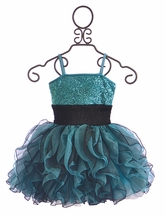 Ooh La La Couture Fashion Dress for Girls in Blue and Black (Size 14)