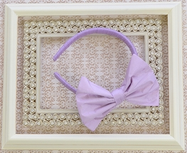 Ooh La La Couture Bow Headband for Girls in Purple