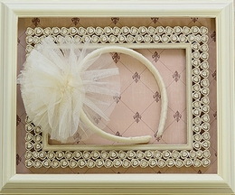 Ooh la la Couture Frilly Girls Headband in Champagne