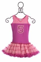 Ooh La La Couture Girls Birthday Tutu Dress in Pink (12Mos & 18Mos)