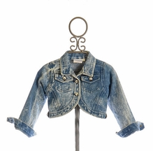 Ooh La La Couture Girls Cropped Denim Jacket