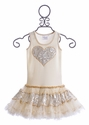 Ooh La La Couture Girls Dress in Ivory Heart