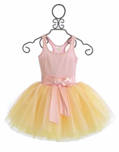 Ooh La La Couture Girls Fancy Dress Pink Bow (2T,5,6,8,10)