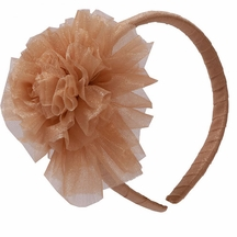 Ooh la la Couture Girls Flower Headband in Gold