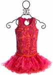 Ooh La La Couture Girls Party Dress in Pink and Orange (6 & 8)