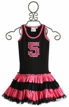 Ooh La La Couture Girls Pink and Black Birthday Dress (12Mos & 18Mos)
