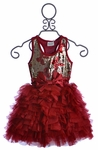 Ooh La La Couture Girls Red Sequin Dress with Bow