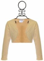 Ooh la la Couture Girls Shrug in Gold (Size 10)
